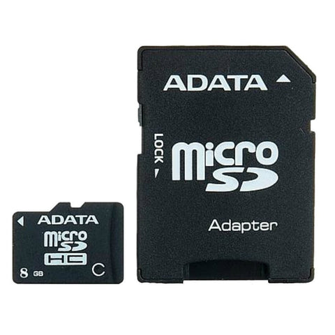 Adata 8GB CL10 Micro SD with SD Adapter