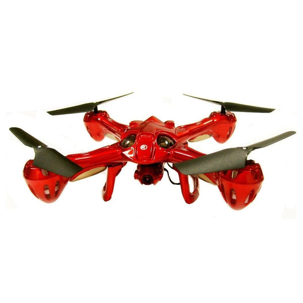 RadioShack 8.75-Inch Zeraxa Remote Control Drone with Camera (Red)