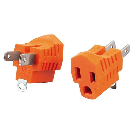 Grounded Plug Adapter (2-Pack)