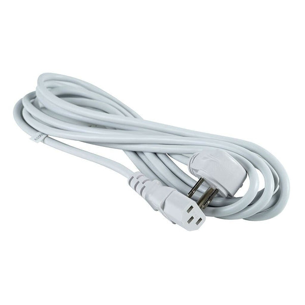 12-Foot 3-Wire Detachable AC Power Cord - White
