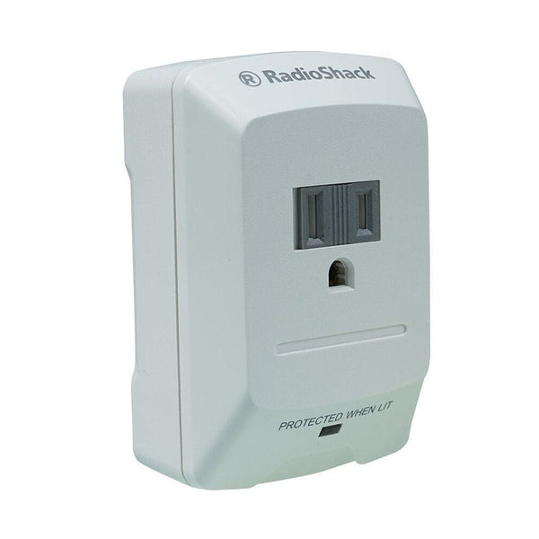 RadioShack 1 Outlet Wall Tap Surge Protector
