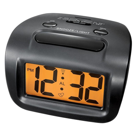 Battery-Powered Big-Digit Alarm Clock