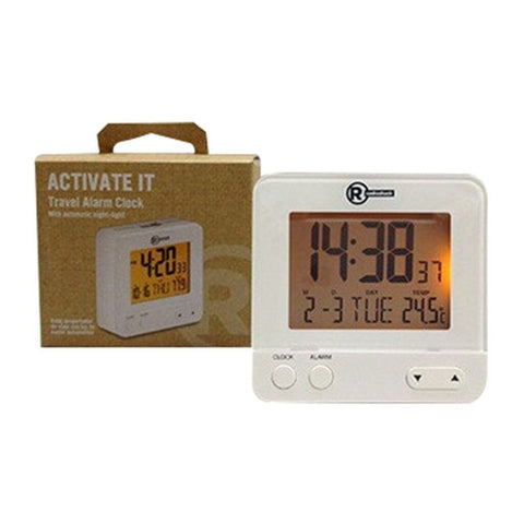 Travel Alarm Clock with Auto Night-Light