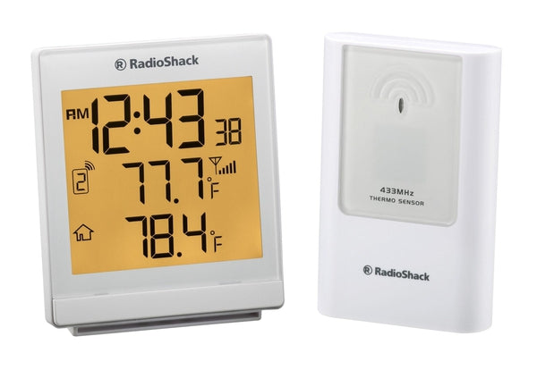Indoor/Outdoor Wireless Weather Station with Thermometer & Alarm Clock