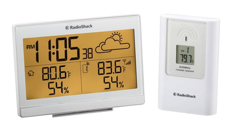 RadioShack Indoor/Outdoor Wireless Weather Station with Weather Forecast, Thermometer, Humidity & Alarm Clock