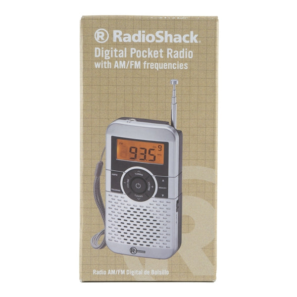 Digital AM/FM Pocket Radio with Backlit Display