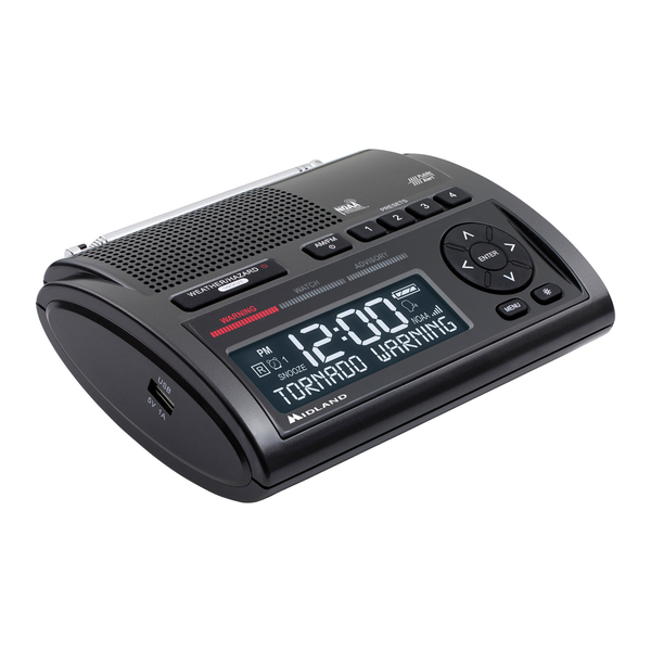Midland WR400 Deluxe AM/FM Weather Alert Radio