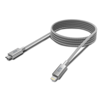 PureGear USB-C to Lightning Cable, Braided - Metallic Space Gray: 6-Foot