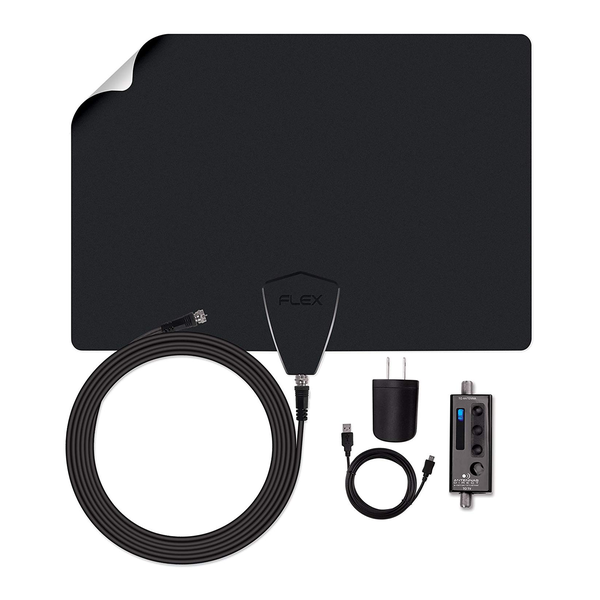 Antennas Direct ClearStream FLEX Amplified Ultra-Thin Indoor HDTV Antenna with Sure Grip (50+ Mile Range)