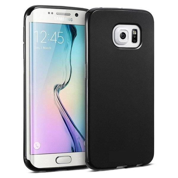 Key Soft Shell Cell Phone Case Samsung Galaxy S6 Edge (Black)