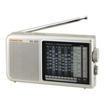 Sangean 12-Band Compact World Band AM/FM/Shortwave Radio with LED Backlight