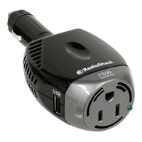 75 Watt Power Inverter with Grounded Outlet and USB