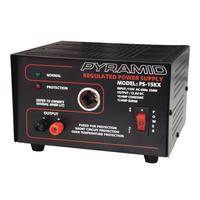Pyramid 10A 13.8V DC Power Supply with CLA Adapter