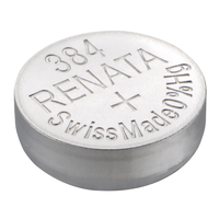 Renata 384 1.55V Silver-Oxide Button Cell Battery: 5-pack