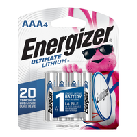 Energizer Ultimate Lithium AAA Batteries: 4-Pack