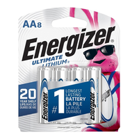 Energizer Ultimate Lithium AA Batteries: 8-pack