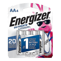 Energizer Ultimate Lithium AA Batteries: 4-pack