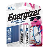 Energizer Ultimate Lithium AA Batteries: 2-pack