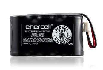 RadioShack Enercell 3.6V/600mAh Ni-Cd Cordless Phone Battery replaces GE 5-2729 25922 25942