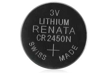 CR2450 3V/600mAh Lithium Coin Cell Battery (3-Pack)