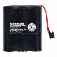 RadioShack 3.6V/700mAh NiCd Cordless Phone Battery for Panasonic and Uniden Phones