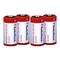 CR123A 3V 1500mAh Lithium Batteries: 4-pack
