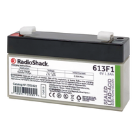 6V 1.3Ah Sealed Lead-Acid (SLA) Rechargeable Battery