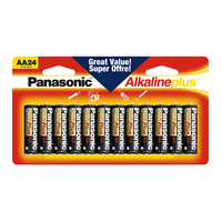 Panasonic AA Alkaline Batteries (24-Pack)