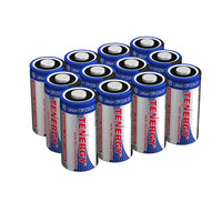 Tenergy CR123A 3V Lithium Batteries, 1400 mAh: 12-Pack