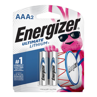 Energizer Ultimate Lithium AAA Batteries: 2-pack