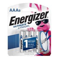 Energizer Ultimate Lithium AAA Batteries: 8-pack