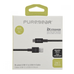 PureGear 10-Foot USB-C to USB-A Braided Cable - Black