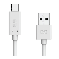 PureGear 4-Foot USB-C to USB-A Cable: White