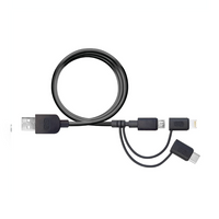 PureGear 4-Foot 3-in-1 Universal Charge & Sync Cable with Lightning, Micro USB & USB-C