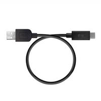 "PureGear USB-A to USB-C Cable: 9""  		 /  Black"