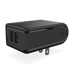 PureGear 5V/4.8A 2-Port USB AC Wall Charger - Black