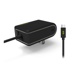 PureGear 24W USB AC Wall Charger with Built-In USB-C Cable - Black