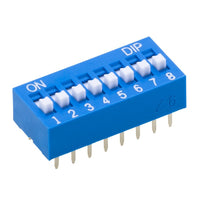 24VDC 8-Position DIP Switch, 25mA