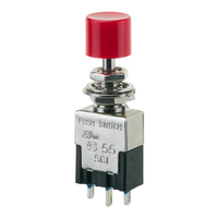 125VAC SPDT Mini Push Button On/Off Switch, 3A