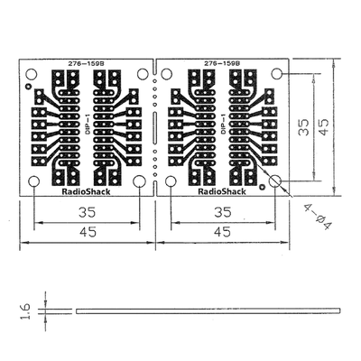 20-Pin IC Breakout Prototyping Board (2-Pack) on