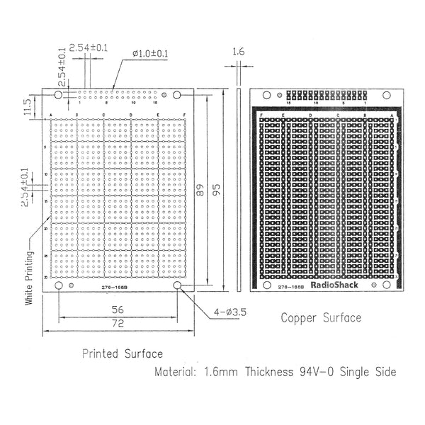 Universal Component PC Board 780 Holes