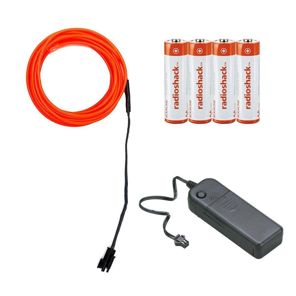 RadioShack Electroluminescent Wire Kit with Inverter and Batteries - 10 feet (Red)