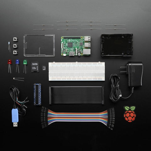 Adafruit Raspberry Pi 3 Model B Starter Pack ‐ Includes a Raspberry Pi 3