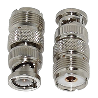Tram PL-259 (SO-239) UHF to BNC Adapters (2-Pack)