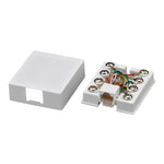 8-Pin RJ45 Surface Mount Telephone Jack - White