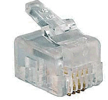 RJ11 RJ14 RJ25 6-Pin Non-Keyed Quick-Connect Plug (10-Pack)