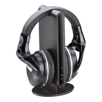 Wireless Stereo Headphones with Docking Station for TV and Audio