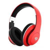 NCredible1 Wireless Bluetooth Headphones: Red