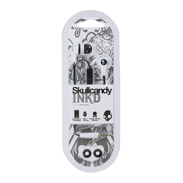 Skullcandy Ink'd Earbuds with Mic - White