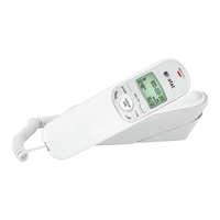AT&T TR1909W Trimline Telephone with Caller ID - White